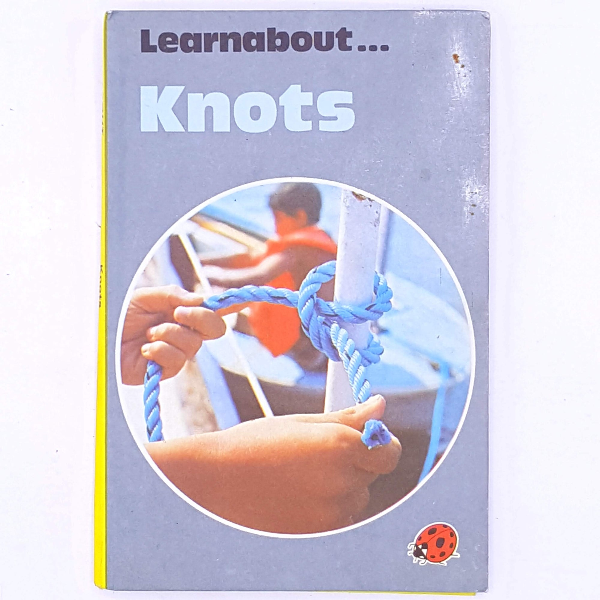 thrift-vintage-knots-learnabout-for-kids-childrens-old-books-ladybird-vintage-ladybird- antique-classic-patterned-country-house-library-decorative-