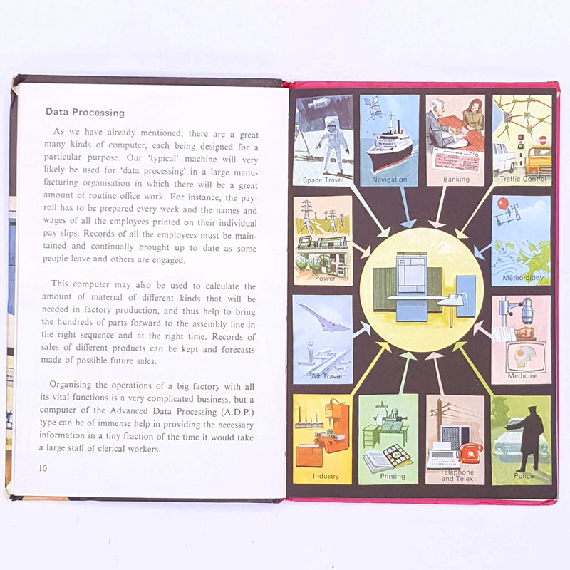 ladybird-educational-thrift-old-books-vintage-country-house-library-antique-decorative-patterned-classic-how-it-works-the-computer-for-kids-childrens-ladybird-