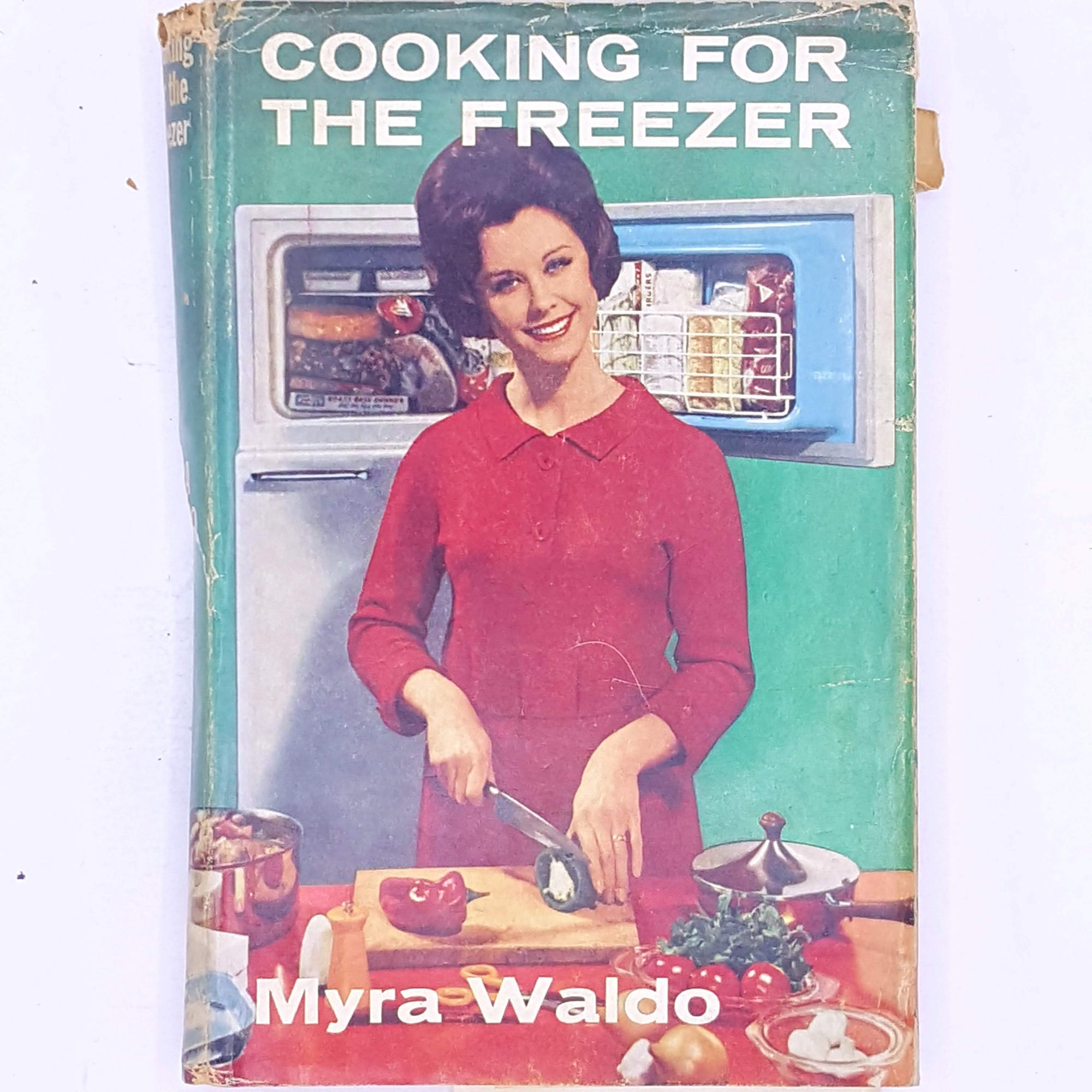 books-cookbook-cooking-for-the-freezer-myra-waldo-skills-gifts-cookbooks-cooking-recipes-antique-thrift-hobbies-classic-old-vintage-baking- country-house-library-for-foodies-food-decorative-patterned-