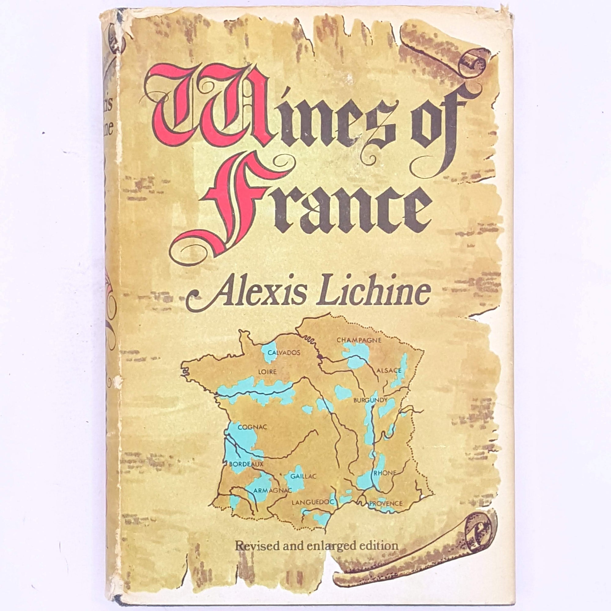 thrift-skills-cookbook-patterned-food-baking- classic-books-recipes-cooking-for-foodies-cookbooks-country-house-library-antique-wine-wines-alcohol-old-wines-of-france-alexis-lichine-decorative-vintage-hobbies-gifts-