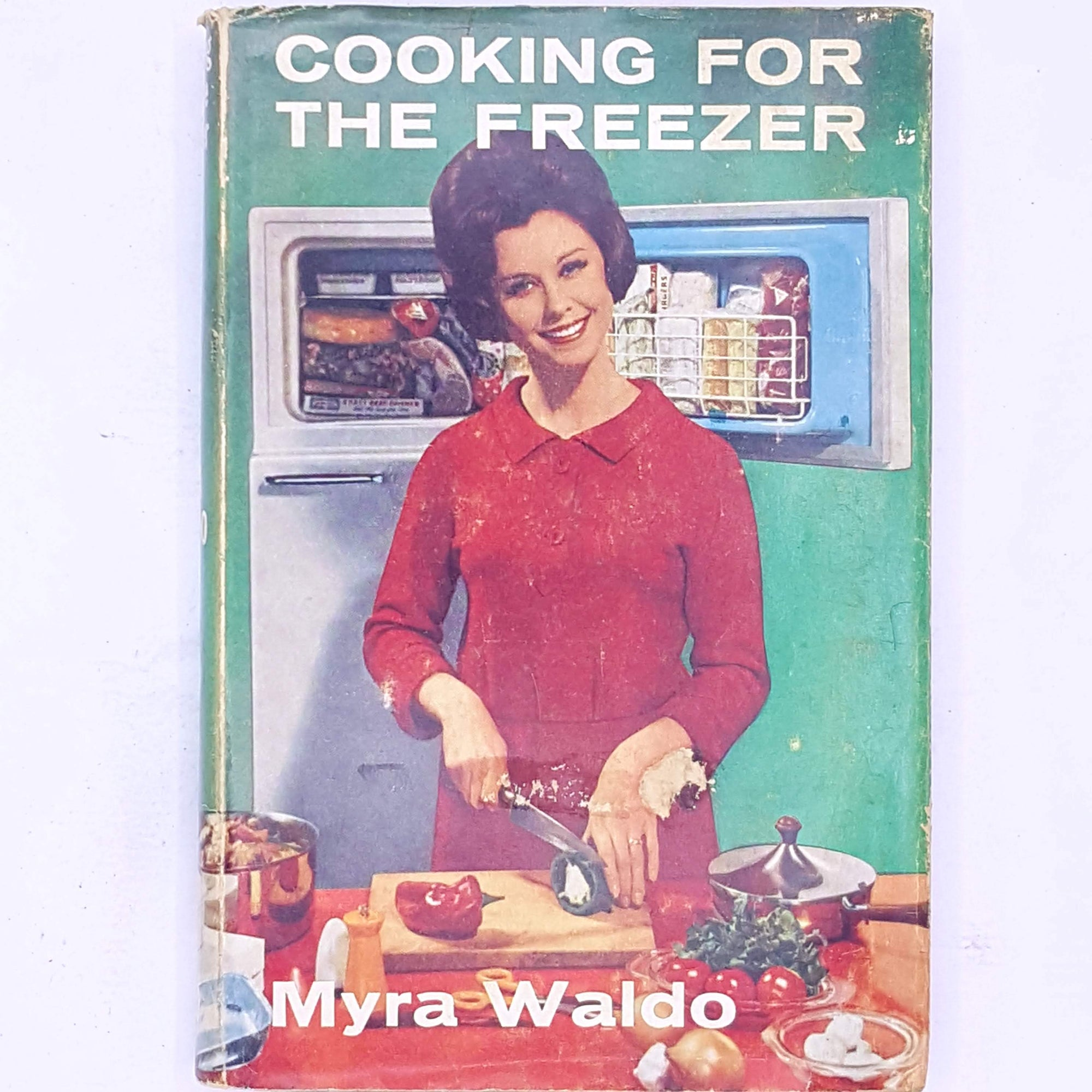 country-house-library-cooking-cookbook-recipes-historical-cooking-myra-waldo-cooking-for-the-freezer-vintage-books-antique-classic-thrift-decorative-patterned-old-
