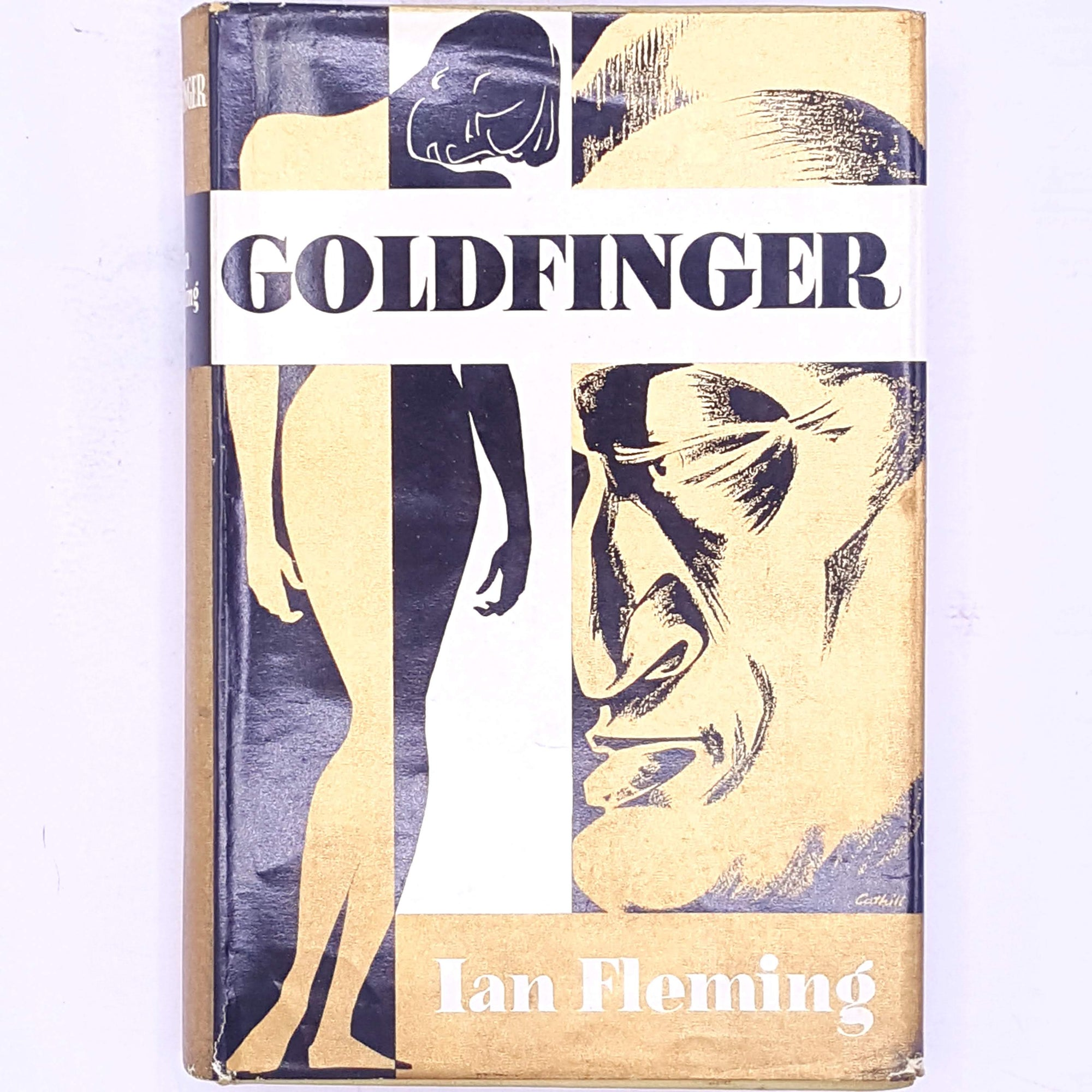 Goldfinger-James-Bond-country-house-library-007-secret-agent-old-classic-vintage-decorative-spy-ian-fleming-mystery-books-patterned-antique-thrift-