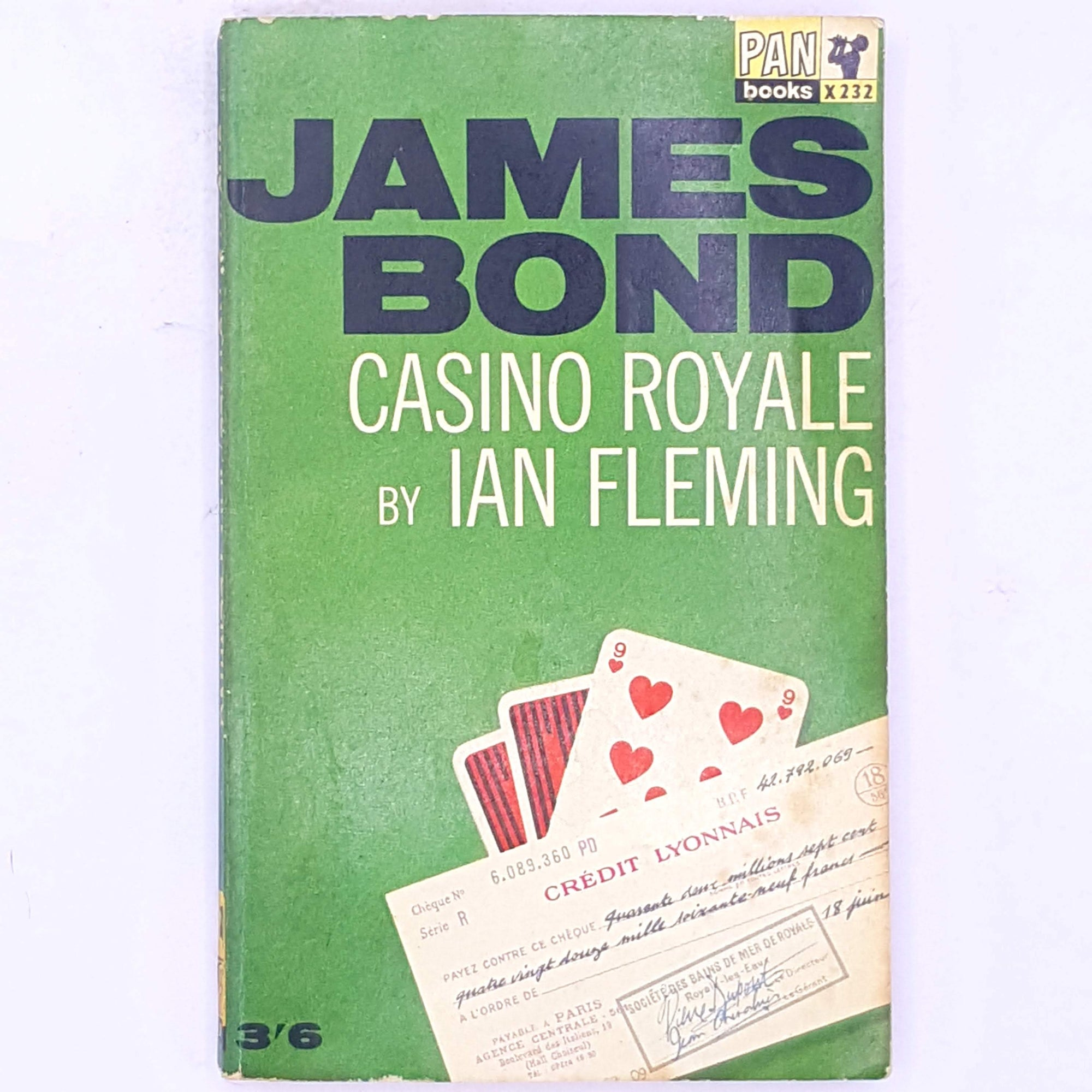 thrift-decorative-007-secret-agent-books-casino-royale-patterned-vintage-James-Bond-country-house-library-classic-antique-old-spy-ian-fleming-mystery-