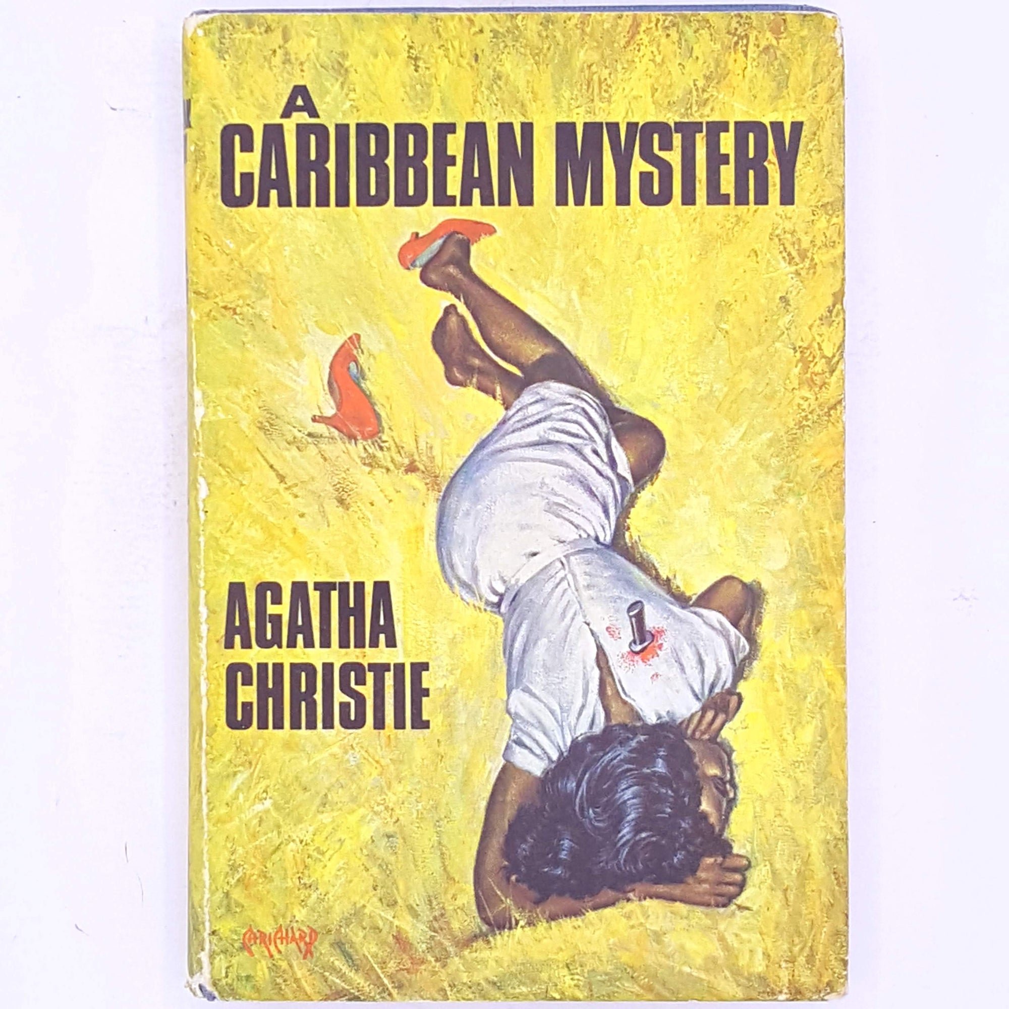 patterned-a-Caribbean-mystery-thrift-books-decorative-vintage-country-house-library-mystery-detective-crime-fiction-novels-female-author-miss-marple-poirot- Agatha-christie-antique-old-classic-