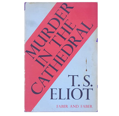 thrift-classic-ts-eliot-murder-in-the-cathedral-antique-decorative-books-patterned-old-vintage-country-house-library-