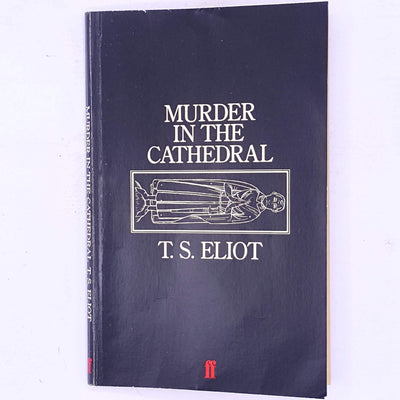 decorative-country-house-library-antique-ts-eliot-murder-in-the-cathedral-play-play-write-classic-patterned-thrift-books-vintage-old-