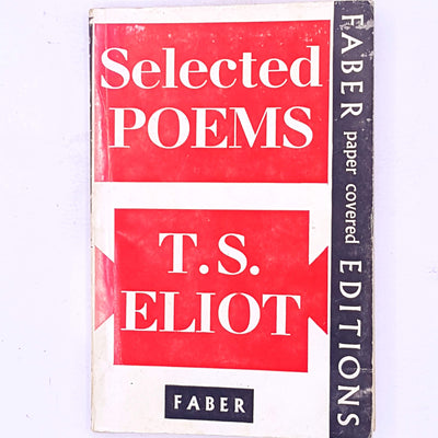 thrift-ts-eliot-selected-poems-poetry-american-british-poet-playwright-author-old-patterned-vintage-country-house-library-books-classic-decorative-antique-