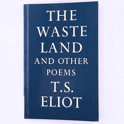 classic-decorative-patterned-books-vintage-country-house-library-old-author-playwright-poet-poems-the-waste-land-and-other-poems-faber-and-faber-t.s-eliot-poet-poetry-american-english-thrift-antique-