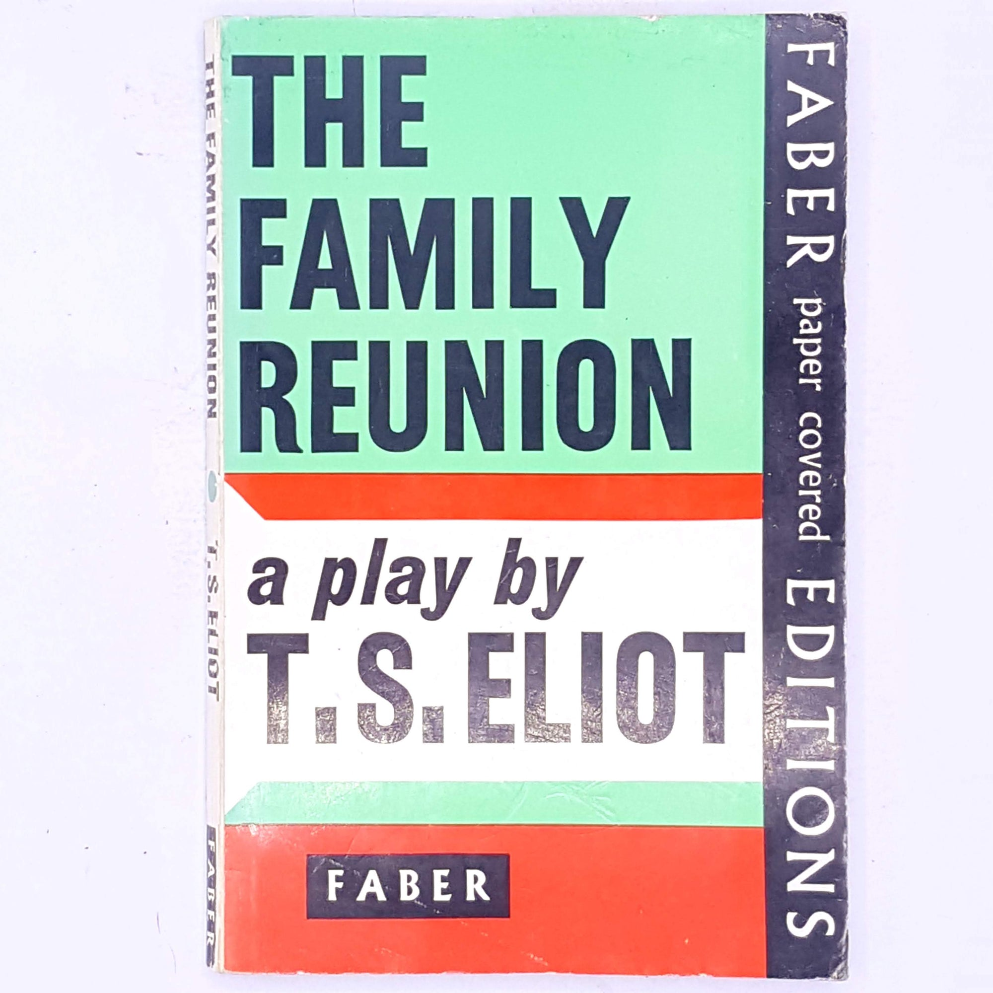 books-decorative-classic-vintage-thrift-country-house-library-antique-patterned-old-the-family-reunion-faber-and-faber-t.s.-eliot-plays-english-american-author-poet-play-wright-