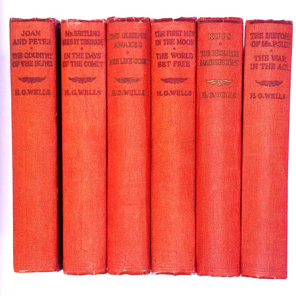 H.G. Wells  6 book Collection