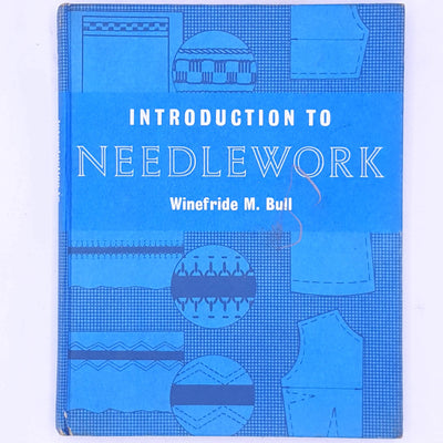 thrift-old-patterned-antique-introduction-to-needle-work-winefride-m-bull-books-classic-vintage-fashion-crafts-skills-hobbies-betterment- country-house-library-decorative-