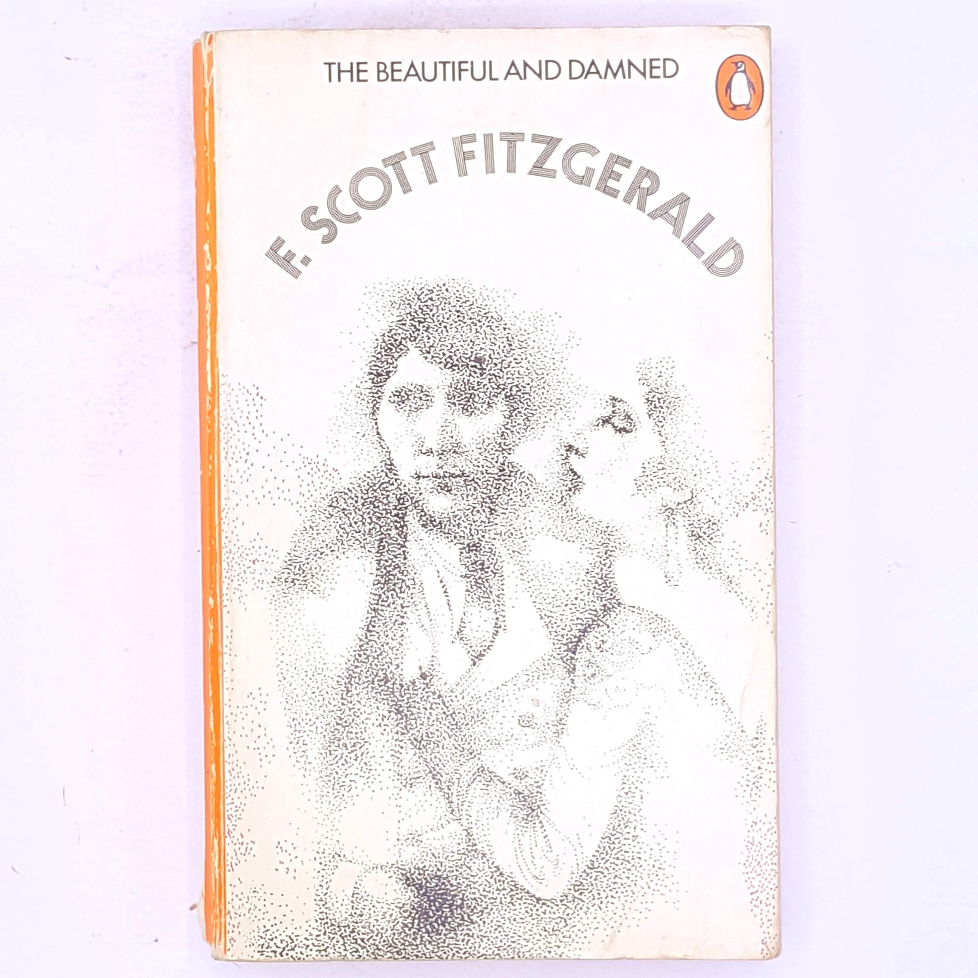 vintage-penguin-books-f.-scott-fitzgerald- patterned-1920-jazz-age-the-beautiful-and-the-damned- classic-country-house-library-antique-thrift-decorative-old-books-