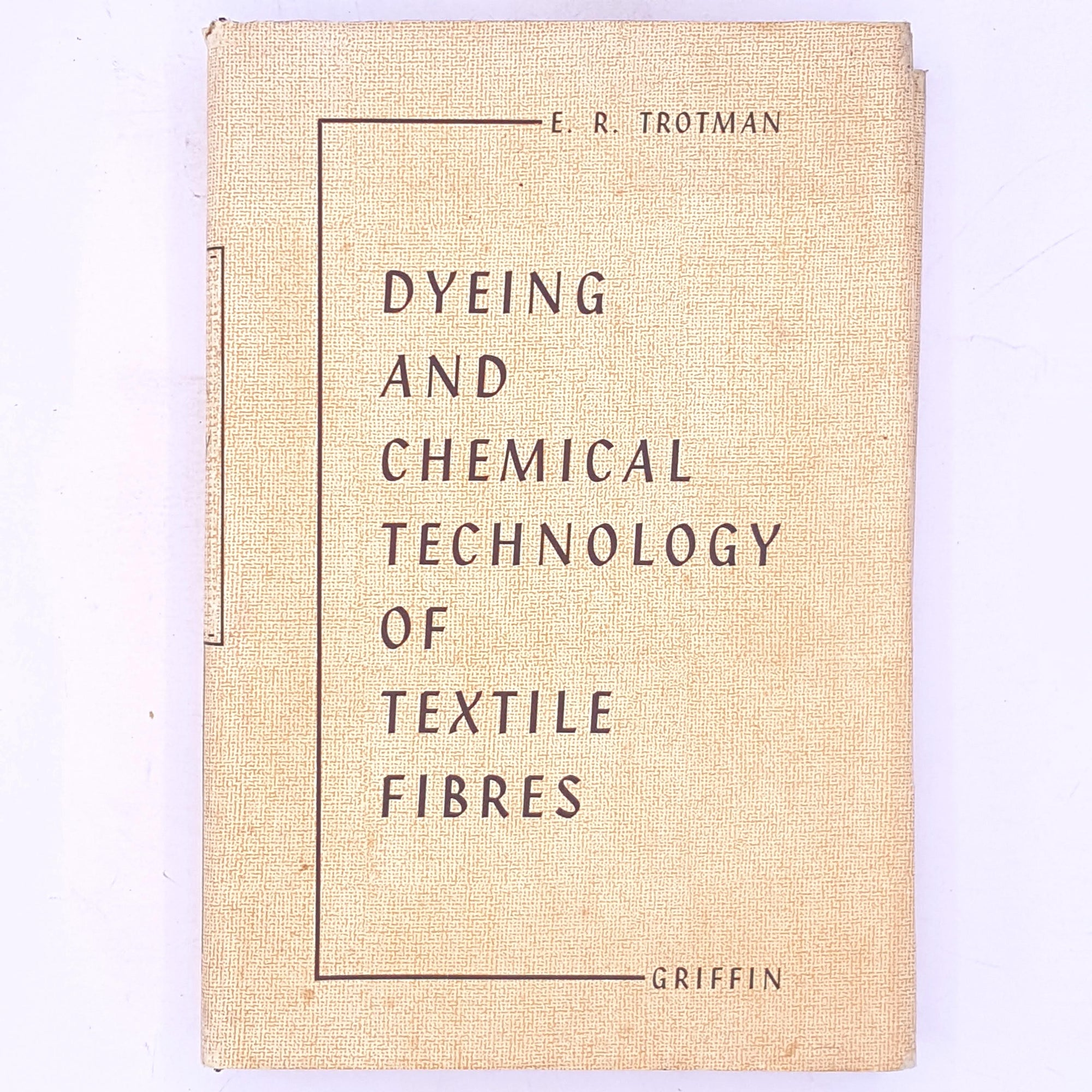 patterned-vintage-Dyeing-and-Chemical-Technology-of-Textile-Fibres-by-E.R.-Trotman-antique-thrift-classic-decorative-old-fashion-textiles-dyeing-chemical-technology-textiles-clothing-books-country-house-library-