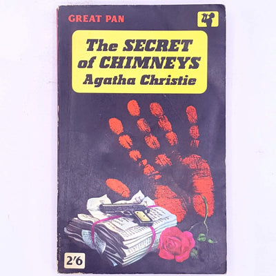 vintage-patterned-old-classic-antique-agatha-christie-detective-crime-fiction-detective-stories-mystery- thrift-country-house-library-female-author-books-decorative-Poirot-the-secret-of-chimney-