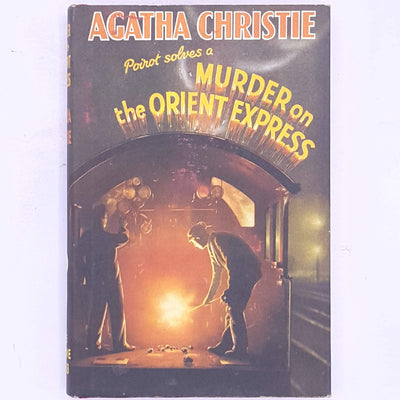thrift-vintage-classic-decorative-antique-books-female-author-country-house-library-Poirot-murder-on-the-orient-express-patterned-old-agatha-christie-detective-crime-fiction-detective-stories-mystery-
