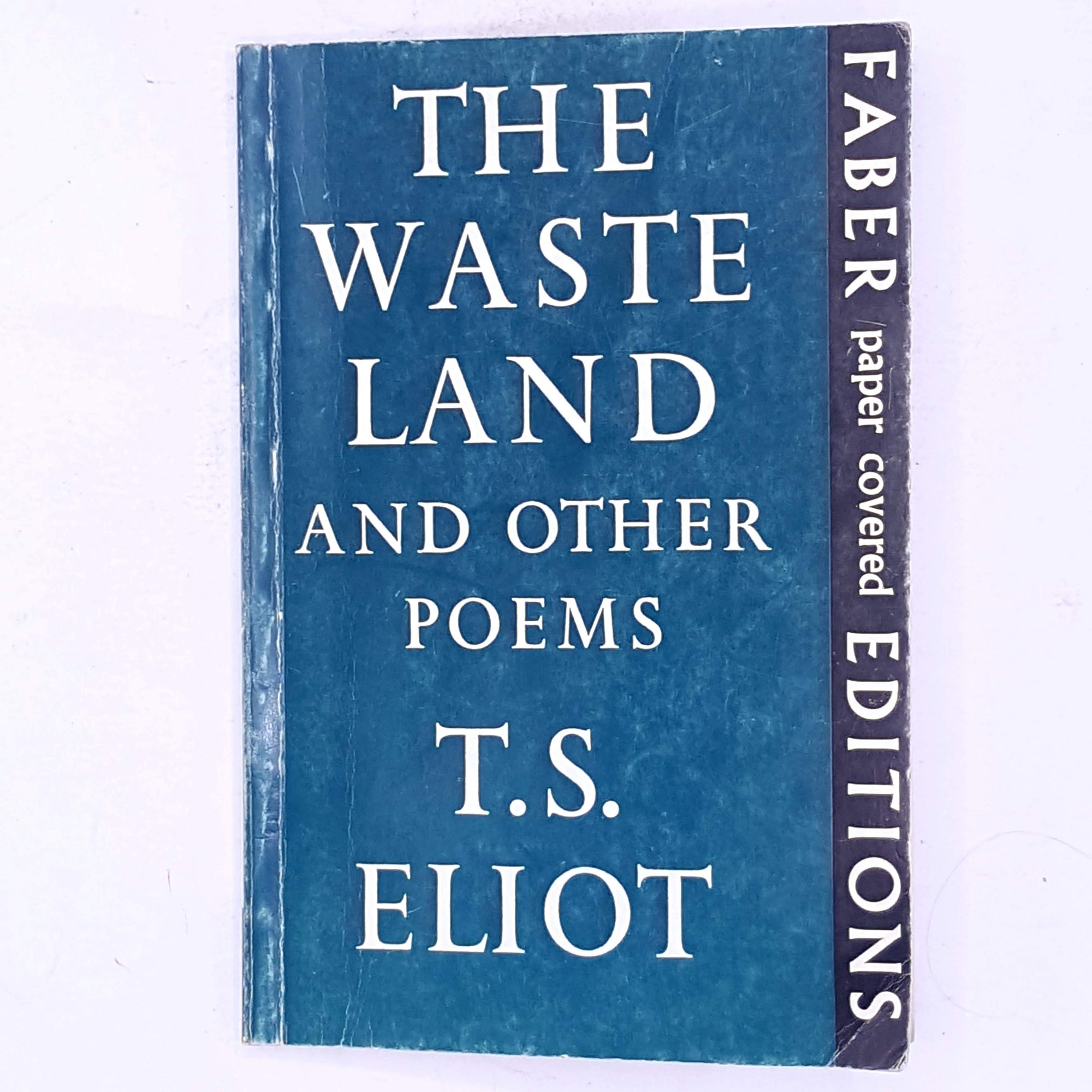 thrift-decorative-the-waste-land-and-other-poems-country-house-library-patterned-old-classic-antique-poets-poetry-poet-books-T.S.-Eliot-vintage-