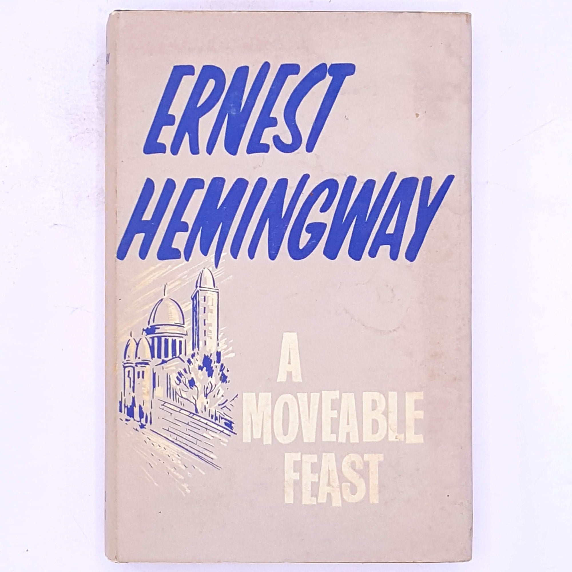 decorative-thrift-books-antique-vintage-old-classic-Ernest-Hemingway-A-Moveable-Feast-country-house-library-patterned-