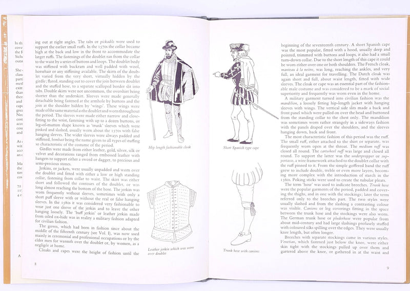 illustrated-patterned-decorative-books-costume-old-1977-reference-vintage-history-classic-antique-country-house-library-fashion-thrift-