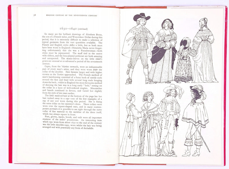 costume-fashion-classic-books-patterned-country-house-library-english-17th-century-1971-antique-illustrated-decorative-old-vintage-thrift-history-england-