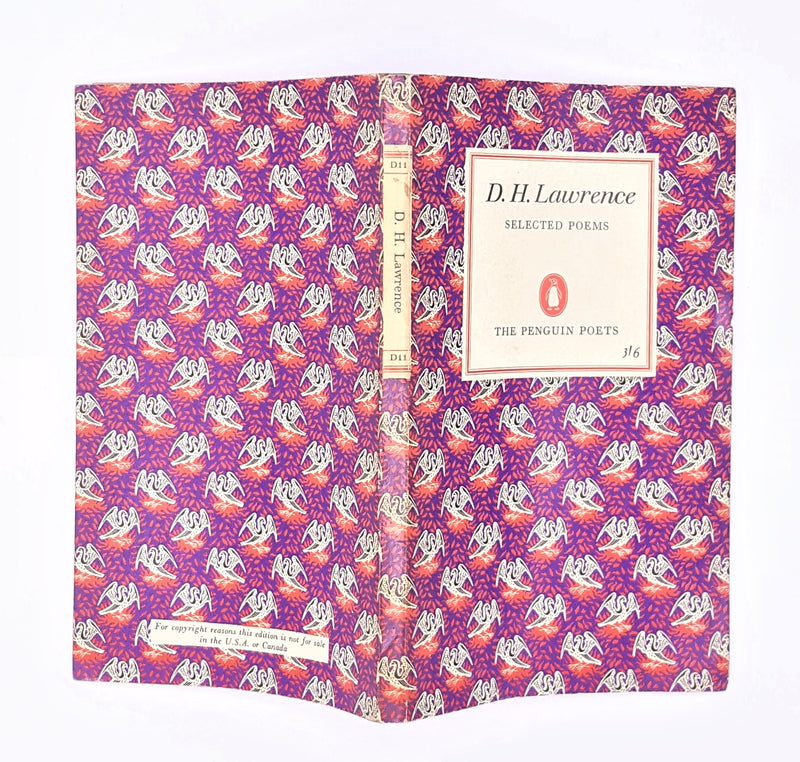 vintage-patterned-thrift-literature-poems-country-house-library-purple-books-penguin-poet-classic-antique-poetry-d-h-lawrence-decorative