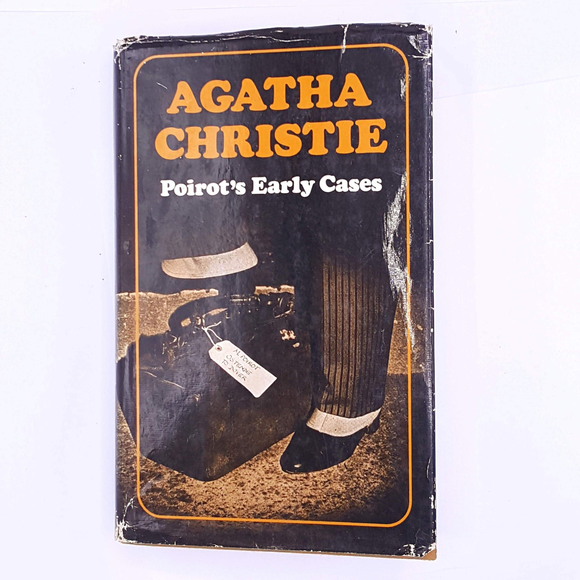 patterned-crime-and-fiction-story-thrift-classic-murder-mystery-crime-writer-classic-murder-poirots-early-cases-decorative-agatha-christie-thriller-mystery-books-poirot-miss-marple-female-author-antique-country-house-library-old-vintage-