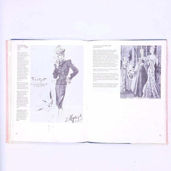 antique-fashion-illustrated-clothing-patterned-thrift-classic-country-house-library-vintage-decorative-a-visual-history-of-costume-the-twentieth-century-penelope-byrde-books-old-