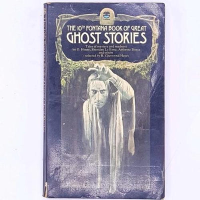 the-10th-fontana-book-of-great-ghost-stories-ghosts-mystery-halloween-ghosts-spirits-vintage-antique-decorative-country-house-library-thrift-classic-books-patterned-old-