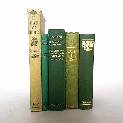 Green Five Book Vintage Collection