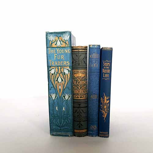 Dark Blue Vintage Four Book Collection
