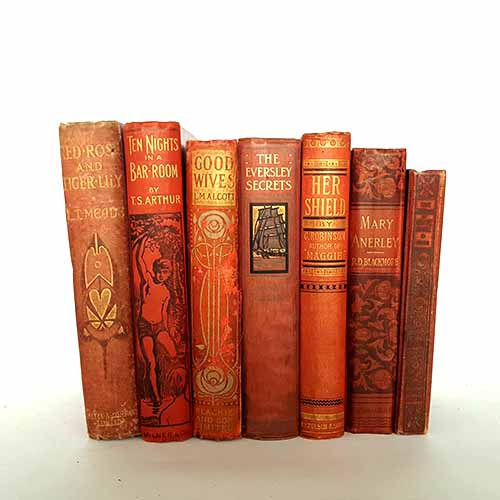 Red Vintage Seven Book Collection