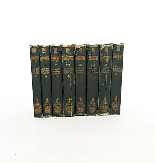 Shakespeare Green Vintage Eight Book Collection
