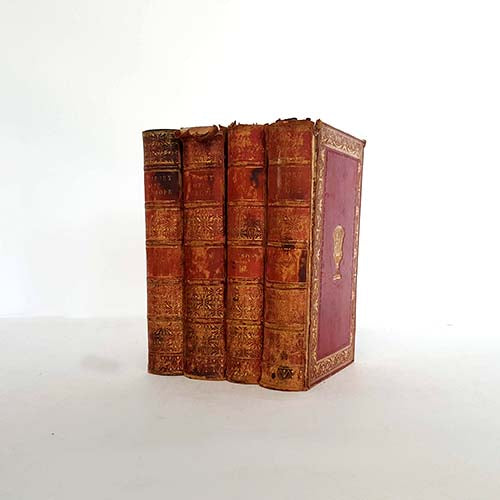 country-house-library-red-history-books-by-foot-collection