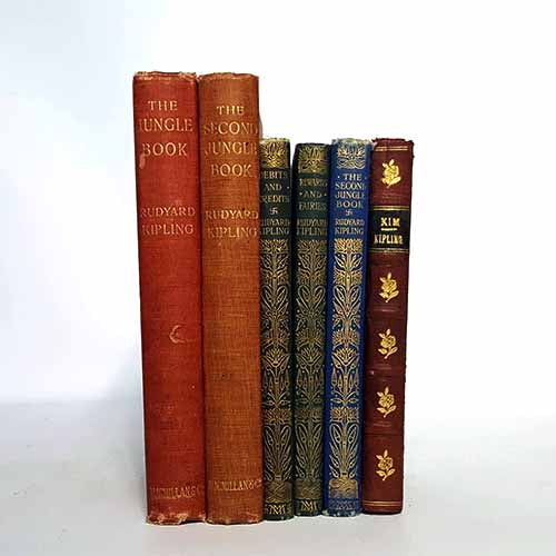 country-house-library-rudyard-kipling-books-by-foot-collection