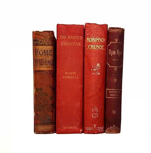 Red Vintage Four Book Collection