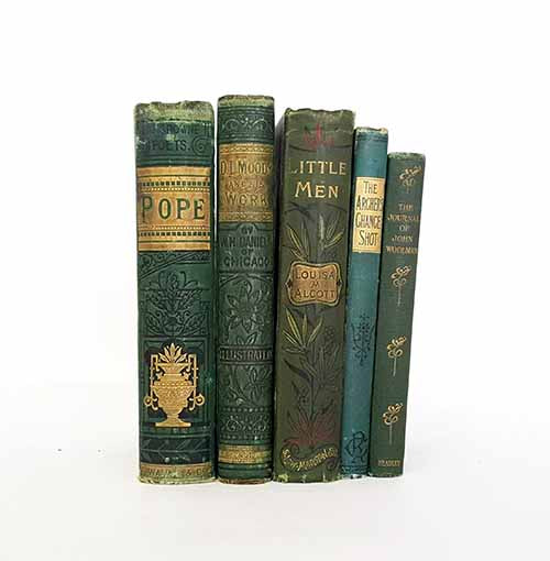 Green Vintage Five Book Collections