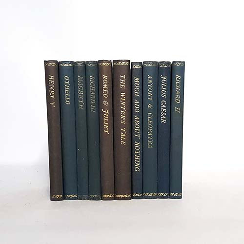 Blue Shakespeare Ten Book Vintage Collection