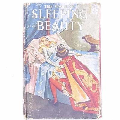 thrift-classic-xmas-old-the-story-of-sleeping-beauty-country-house-library-christmas-gifts- for-kids-patterned-antique-festive-noel-vintage-december-christmas-gifts-books-decorative-