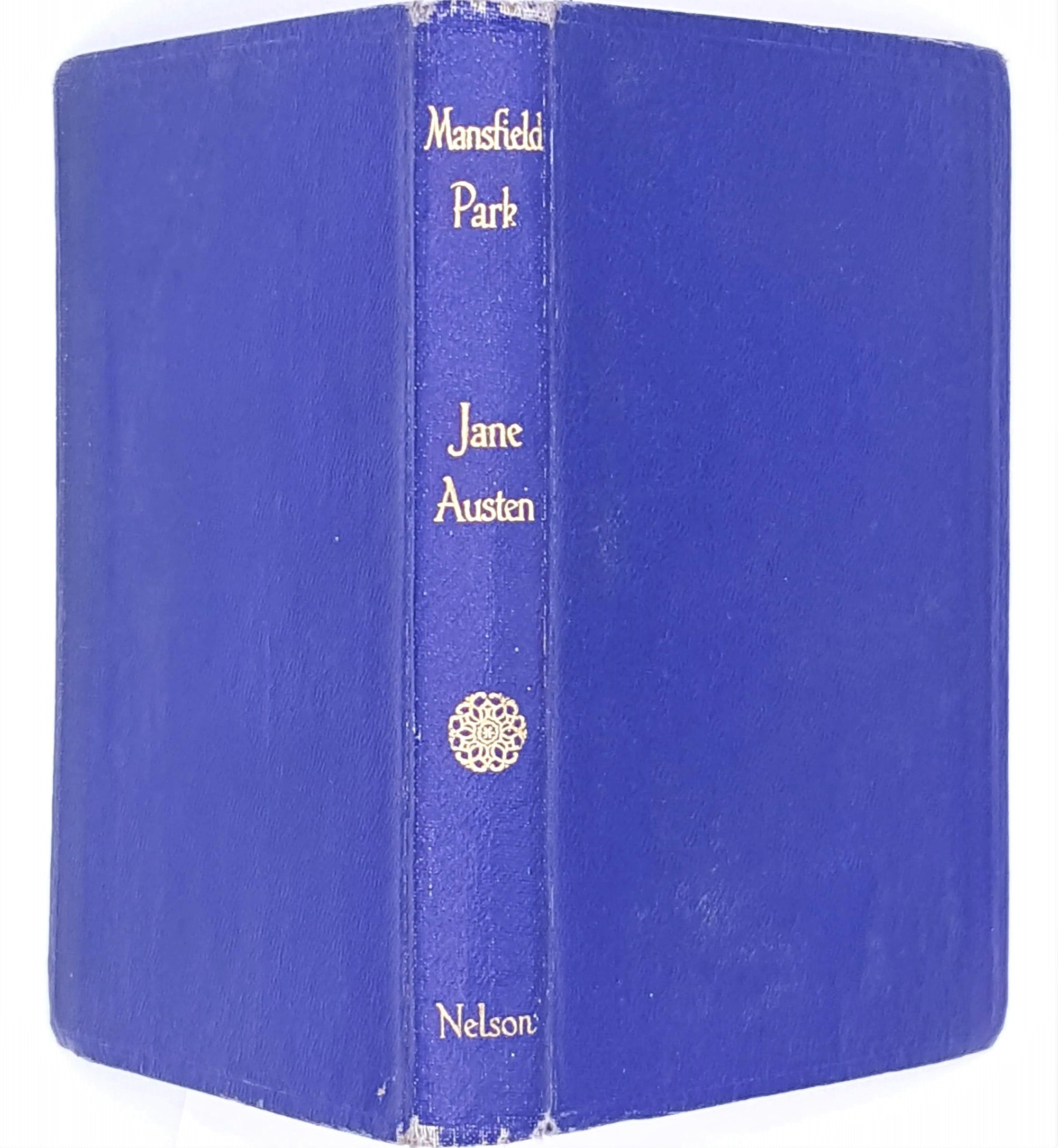mansfield-park-nelson-classic-thrift-blue-books-old-decorative-antique-patterned-country-house-library-vintage-jane-austen-