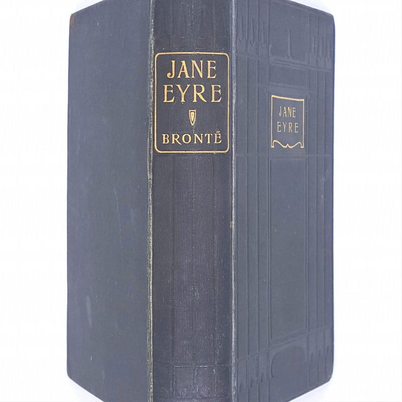 vintage-green-bronte-Classic-jane-eyre-ward-lock-and-co-Patterned-books-old-country-house-library-antique-decorative-thrift-