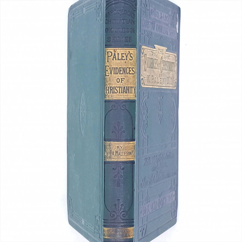 patterned-ward-lock-and-co-green-thrift-w-paley-decorative-1892-old-evidences-of-christianity-books-country-house-library-classic-antique-
