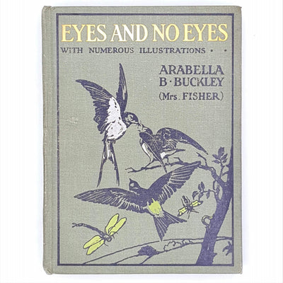 vintage-eyes-and-no-eyes-thrift-arabella-b-buckley-1908-cassell-illustrated-antique-old-gold-gilt-classic-nature-country-house-ibrary-patterned-decorative-books-green-