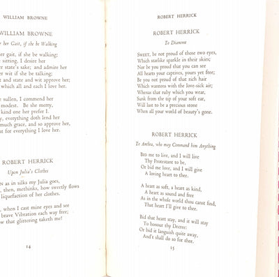 Cavalier Lyrics and Other 17th Century Love Poems, Zodiac Books 1941