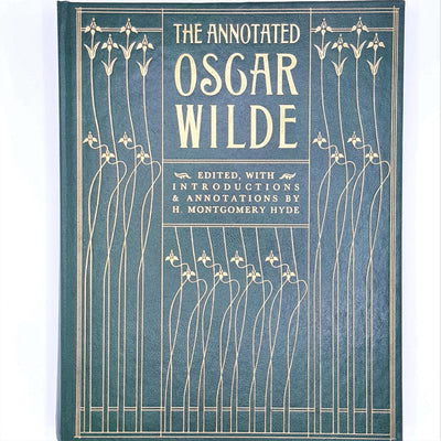 decorative-plays-poetry-country-house-library-thrift-books-h-montgomery-hyde-old-vintage-classic-patterned-green-book-club-associates-antique-the-annotated-oscar-wilde-