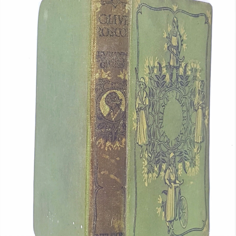 country-house-library-old-antique-patterned-green-the-new-sister-e-everett-green-thomas-nelson-thrift-classic-decorative-olive-roscoe-vintage-books-