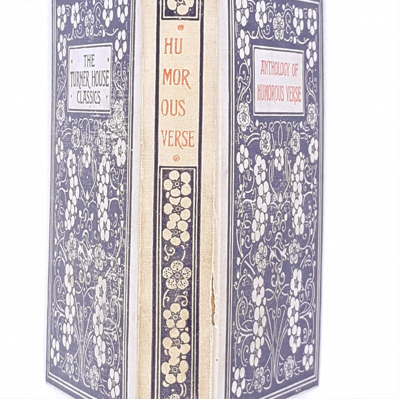 old-books-classic-antique-hutchinson-anthology-of-humorous-verse-patterned-white-country-house-library-theodore-a-cook-thrift-black-vintage-decorative-1906-