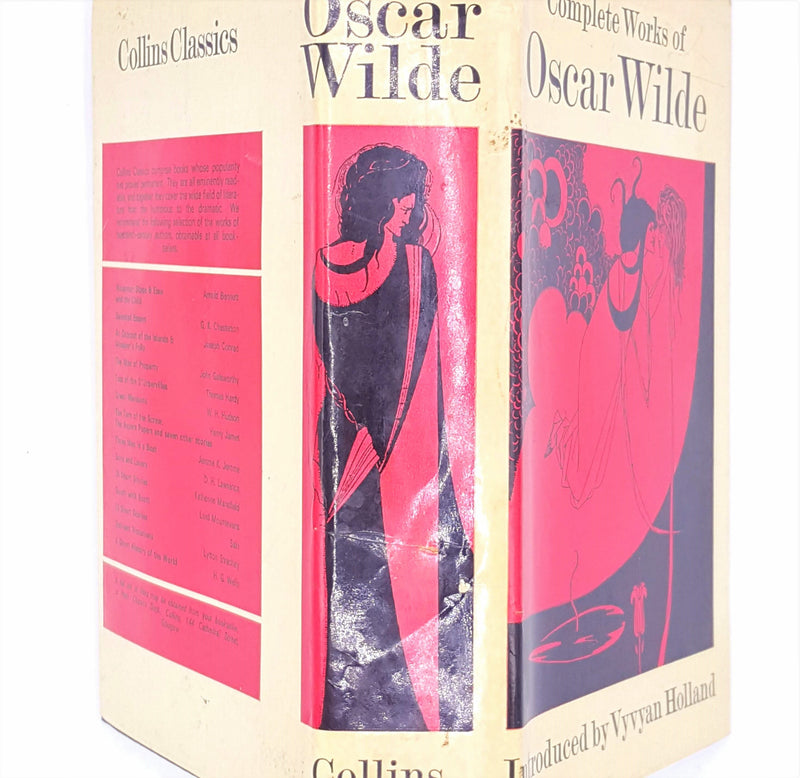 oscar-wilde-vintage-1971-vyvyan-holland-country-house-library-beige-antique-classic-patterned-decorative-old-complete-works-thrift-books-collins-