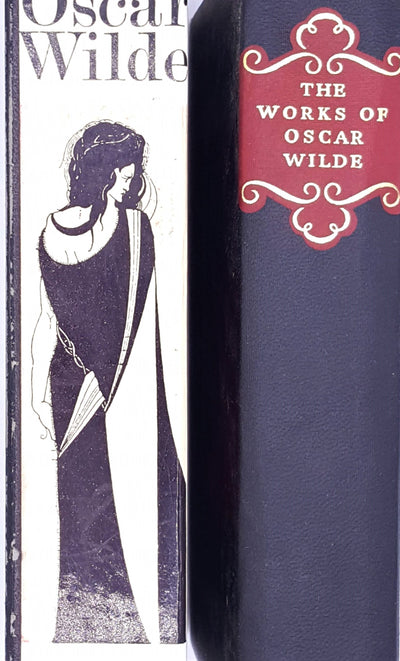 poetry-books-vyvyan-holland-complete-works-decorative-old-plays-patterned-1971-thrift-antique-country-house-library-collins-vintage-classic-oscar-wilde-