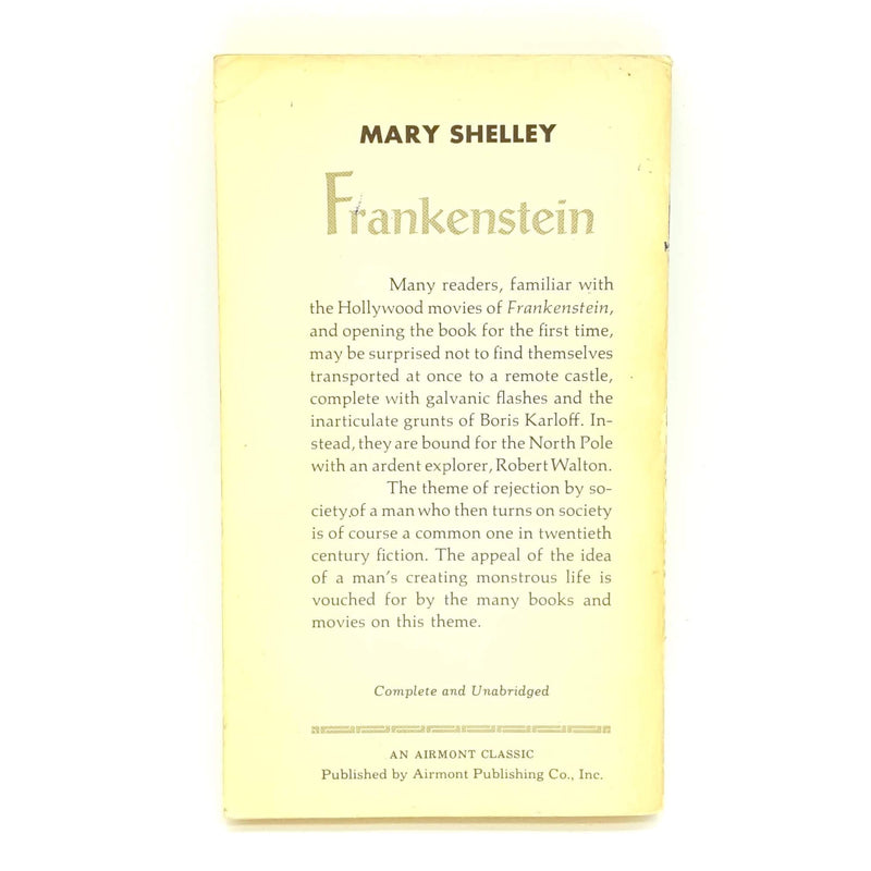 Frankenstein by Mary Shelley - Airmont Books Country House Library