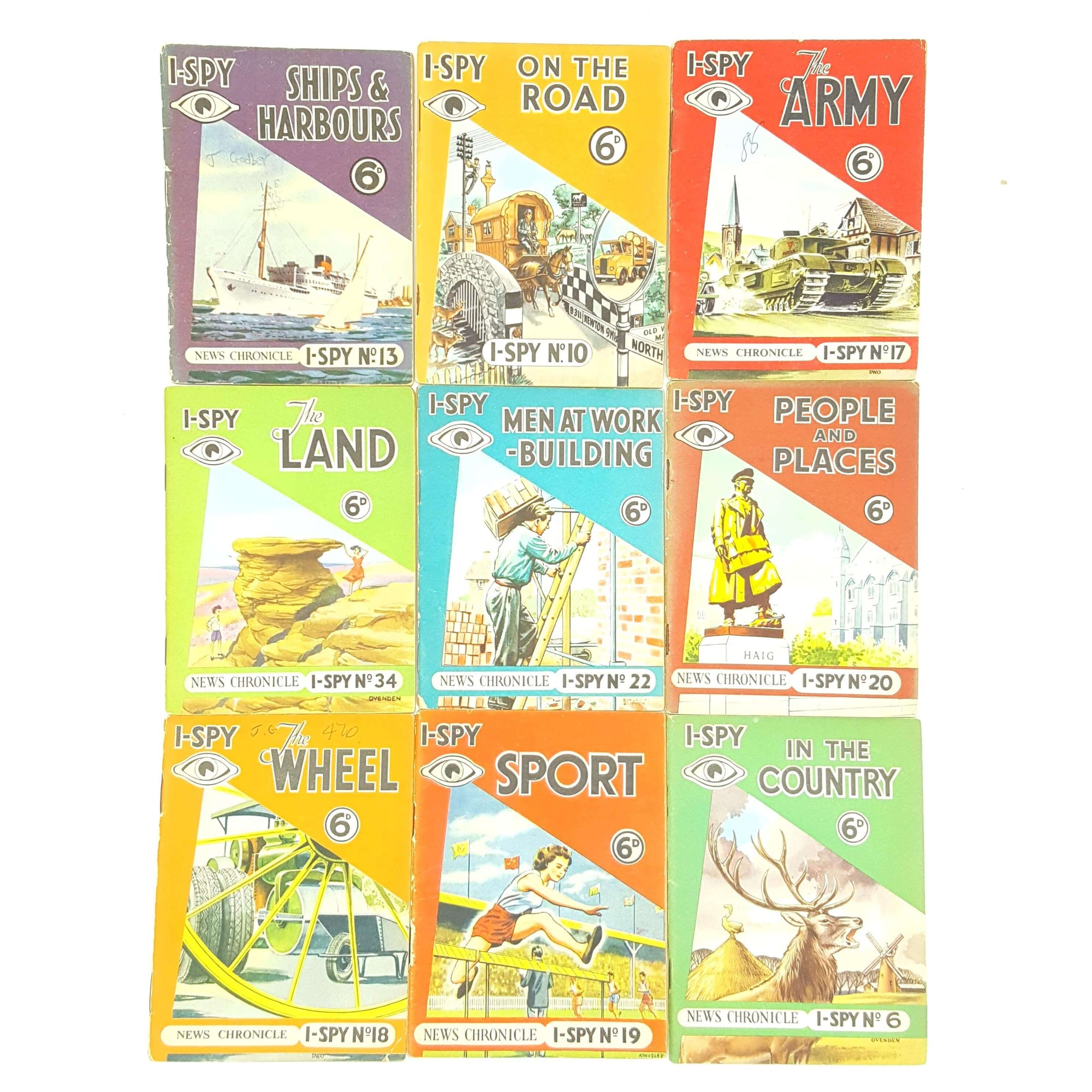 I-Spy News Chronicles 22 Book Collection c.1950 Country House Library