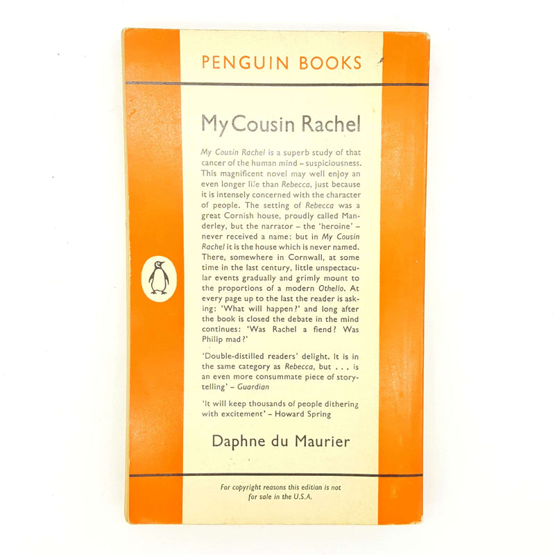 Daphne du Maurier's My Cousin Rachel 1962 Country House Library